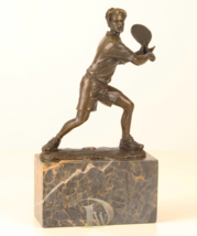 Antique Home Decor Bronze Sculpture shows Tennis Player, signed *Free Sh... - $179.00