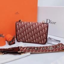 NEW AUTH Christian Dior Red Monogram Messenger Crossbody Bag  image 3