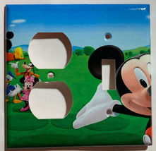 Mickey Mouse House Club Light Switch Duplex Outlet wall Cover Plate Home decor image 11