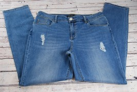 Chico's Black Label Gemstone Destroyed Slim Roll Jeans - Chico's Size 1 (Size 8)