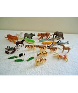 Mixed Lot Of 25 Vintage / Other Plastic Toy Animals Of All Types,Sizes,etc. - $13.99