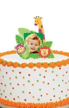 Wilton Jungle Pals Photo Cake Topper, Birthday, Graduation, Celebration - $4.94