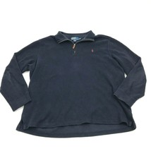 Ralph Lauren 1/4 Zip Polo Blue Sweater Adult XL Extra Large Knit Long Sleeve Men - $17.83