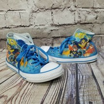 Converse X DC Comics KIDS 2 Superhero Girls Blue High Top Sneakers Chucks - $28.04