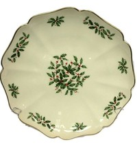 "Lenox Holiday China, Gourmet 12"" Holly Berry Scallop Platter - $59.39"