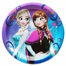 Disney Frozen Round Dessert Plates - 8 Pcs - $3.81