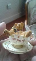 Boyd's Bears BEE HAPPY! SMILEY TEABEARIE RETIRED 2002 TBC HANDMADE CHINA... - $30.00