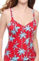 Freya Swim South Pacific Underwire Deep Plunge Tankini 3555 RED in 32 D   - $35.00