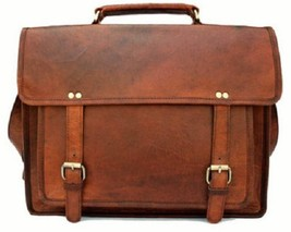 "15"" Unisex Genuine Rustic Soft Leather Office Formal Travel Laptop Messe... - $76.32"