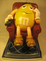 Collectible M&M'S Candy Dispenser YELLOW in Recliner 1999 [Z83] - $6.38