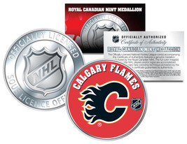CALGARY FLAMES Royal Canadian Mint Medallion NHL Colorized Coin * LICENS... - $8.86