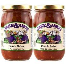 Jake & Amos Peach Salsa / 2 - 16 Oz. Jars - $15.34