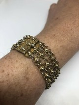 Vintage 1970's Golden 925 Sterling Silver Chain Link Bracelet - $106.91