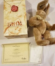 Rare Russ Berrie Limited Edition Easter Bunny Plush Bunnies from Past COA NIB 99 - $68.59