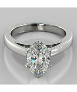 2.00 Ct Oval Cut Diamond Engagement Anniversary Ring Solid Gold Bridal R... - $75.59