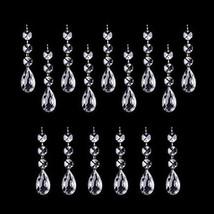 15x Clear Crystal Pendant Teardrop Chandelier Pendants Glass Prism Beads Strands - $11.95