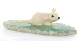 Stepping Stones Fairy Garden Miniature Mouse on Sliced Quartz Base #2712 image 1