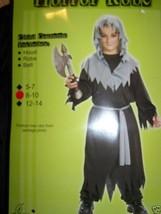 Boy's Size Medium 8-10 Horror Robe Reaper Halloween Costume Black Gray New - $18.00