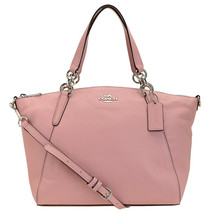 NWT COACH Small KELSEY Satchel Crossbody Leather Carnation Pink Silver F... - £91.79 GBP