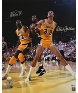 KAREEM ABDUL-JABBAR AND MAGIC JOHNSON AUTOGRAPHED 16X20 PHOTO LAKERS - $313.00 CAD