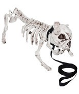 "16.5"" Skeleton Dog Halloween Party Decorations Fall Prop Indoor Home Decor - $44.89"
