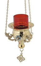 Hanging Brass Greek Christian Vigil Lamp (9544 B) - $81.75