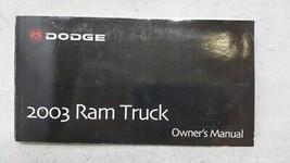 2003 Dodge Ram 1500 Owners Manual 53389 - $31.32