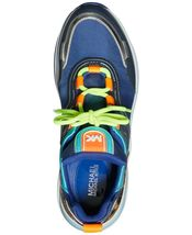 Michael Kors MK Women's Olympia Trainer Canvas Dad Sneaker Shoes Sapphire image 4