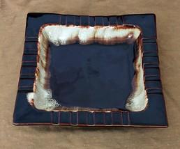 """Vtg Pfaltzgraff 8"""" Square Ashtray Brown Drip Glazed Stoneware Pottery Ma... - $10.75"""