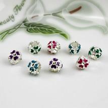 Charms Hot Sale Silver Plated Flower Fits Pandora Bracelet Necklace 2Pcs/lot Bea - $15.99