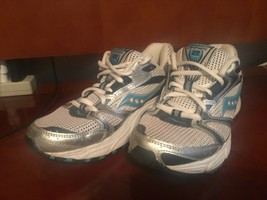 Women's Saucony Oasis 2 Running Walking Shoes Gray Silver Black & Blue S... - $24.74
