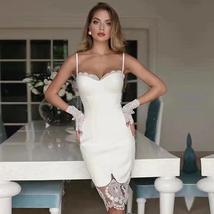2021 Summer Women's Bandage Dress New Sexy Spaghetti Strap Lace Backless Fashion