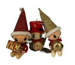 Mid Century Christmas Ornaments - Vintage Flocked (Set of 3) - Made in J... - $19.99