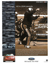 Ford Team Racing Magazine Print Ad - $4.75