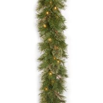 National Tree 9 Foot by 10 Inch Atlanta Spruce Garland with 50 Clear Lights AT7- image 10