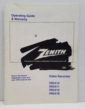 Vtg Zenith Vhs Video Recorder Operating Guide Manual Booklet VR2410 11 1... - $19.34
