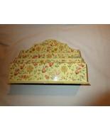 Letter / Memo Holder, Desktop, Floral Design / Yellow - $20.00