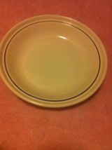 LONGABERGER POTTERY -- PIE DISH / BAKEWARE-- OFF WHITE / BLUE----FREE SH... - $21.69