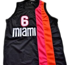 Lebron James #6 Miami Floridians Basketball Custom Jersey Sewn Black Any Size image 4