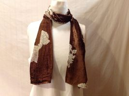 Gorgeous Combo Scarf Velvet and Satin floral vintage rose abstract color choice image 7