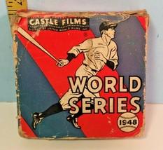 1948 Castle Film Baseball World Series Braves/Indians 16mm Headline Edit... - $14.85