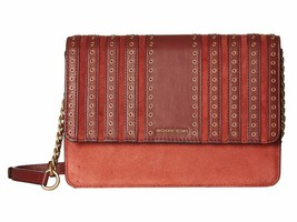 NWT MICHAEL Michael Kors Brooklyn Grommet Large Crossbody Clutch in Brick - $154.39 CAD