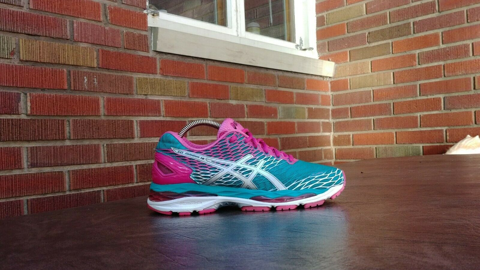 Womens Asics Gel Nimbus 18 Running Shoes SZ 7 Used Sneakers Trainers image 2