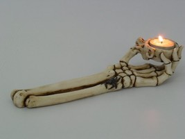 PTC 10 Inch Skeletal Hand and Arm Hand Painted Candle Holder, Beige - $19.99