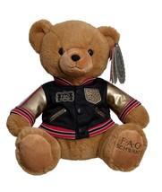 "FAO Schwarz Toy Plush Anniversary Bear 12"" with Aviation Jacket 2019 - $19.79"