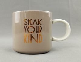 """Starbucks 2017 """"Speak Your Kind"""" 12 oz Taupe Ceramic Coffee Mug / Tea Cup - $7.87"""