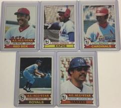 Lot of 5 - 1979 Topps Hall of Famer's Brock, Dawson, Rice, Brett, Jackson C - $8.99