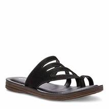 Eastland Women's Thong Slide Flat Sandal, Black, 9