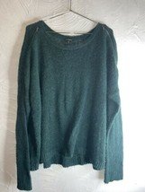 Express Emerald Green Sweater Zipper Accents Size Large - $21.49