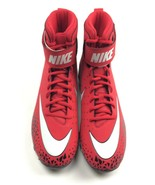 Nike Force Beast Shark Red Black White Football Cleat Men's 11 Strap 880109 - $24.25